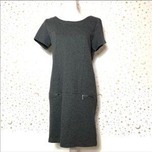 ✨ Gap Charcoal Gray Short Sleeve Sweater Dress